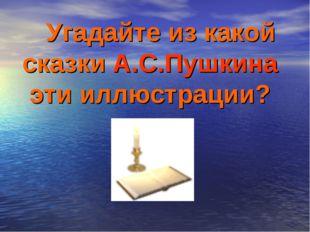 Угадайте из какой сказки А.С.Пушкина эти иллюстрации?