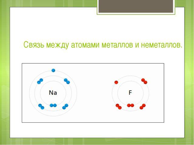 Связь между атомами металлов и неметаллов.