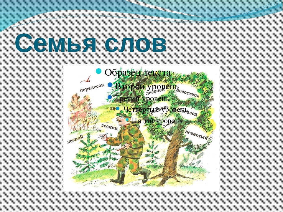 Семья слов Бокова С Ю НРСШ