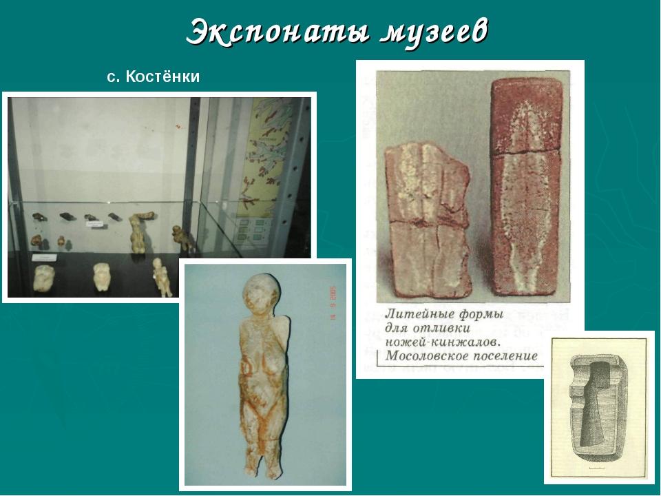Экспонаты музеев с. Костёнки