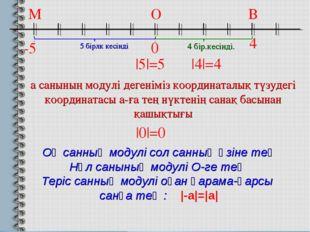 -5 0 4 а санының модулі дегеніміз координаталық түзудегі координатасы а-ға те