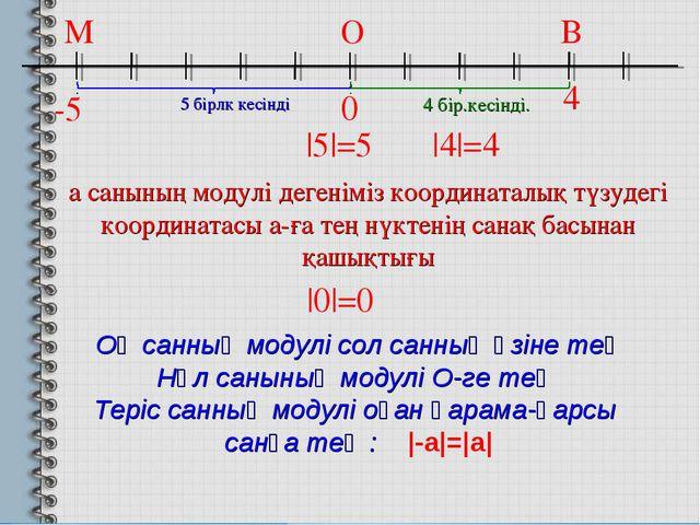 -5 0 4 а санының модулі дегеніміз координаталық түзудегі координатасы а-ға те...