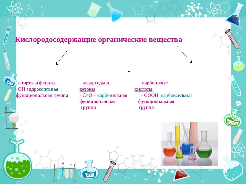 Кислородосодержащие органические вещества спирты и фенолы альдегиды и карбон...