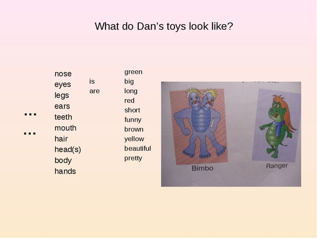 What do Dan's toys look like?