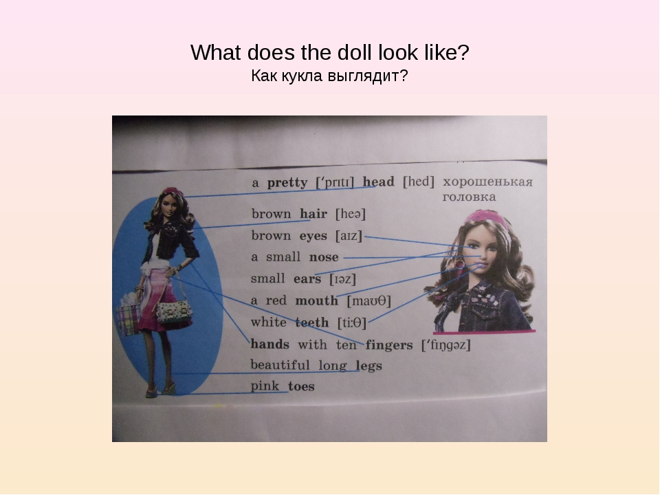 What does the doll look like? Как кукла выглядит?
