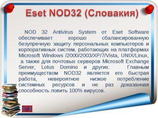 NOD 32 Antivirus System от Eset Software обеспечивает хорошо сбалансированную