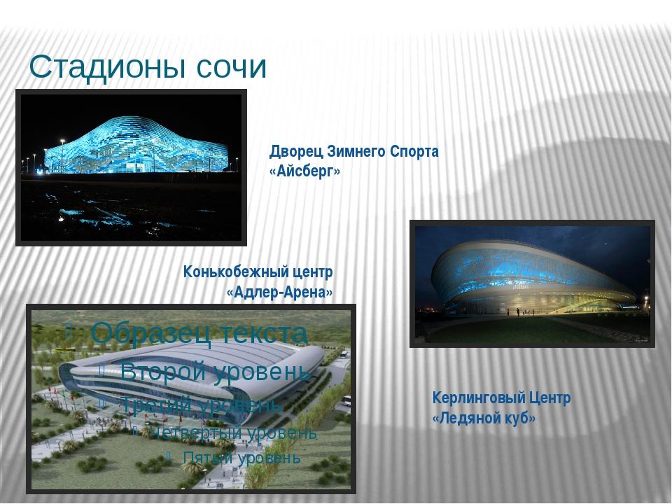 Стадионы сочи Конькобежный центр «Адлер-Арена» Керлинговый Центр «Ледяной куб...