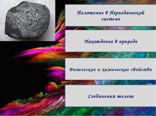 Положение в Периодической системе Физические и химические свойства Соединени