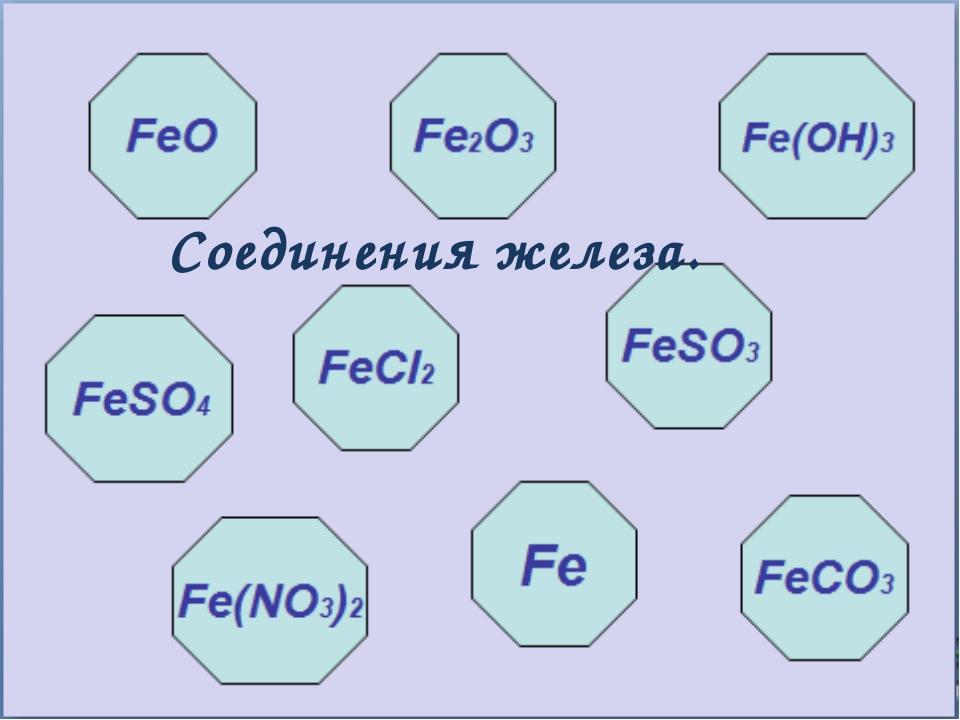 Соединения железа.