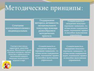 Методические принципы: