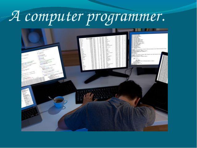 A computer programmer.
