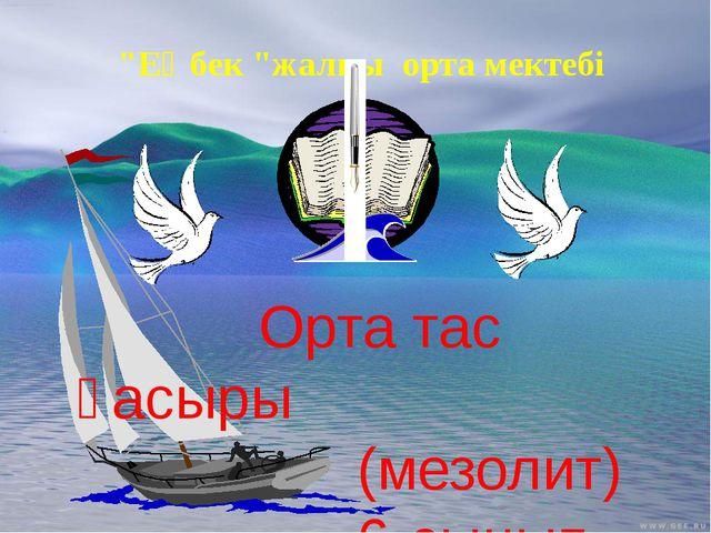 """""""Еңбек """"жалпы орта мектебі Орта тас ғасыры (мезолит) 6-cынып"""