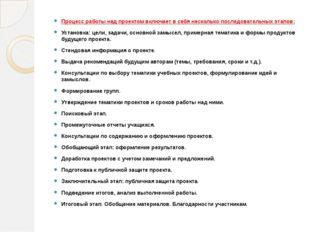 Процесс работы над проектом включает в себя несколько последовательных этапов