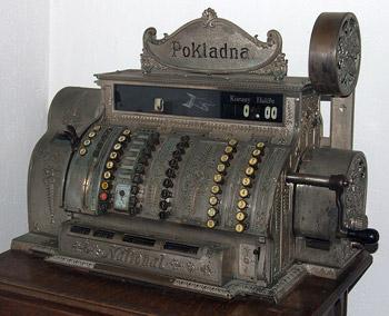 Стариный кассовый аппарат