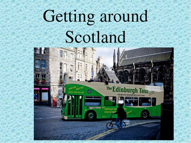 Getting around Scotland
