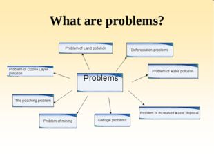 What are problems? Problems Problem of Ozone Layer pollution The poaching pro