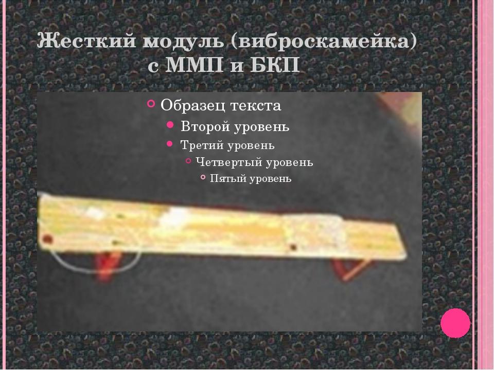 Жесткий модуль (виброскамейка) с ММП и БКП