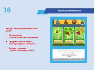 Методы распространения платных услуг: Пробный срок (с автоматическим продлен