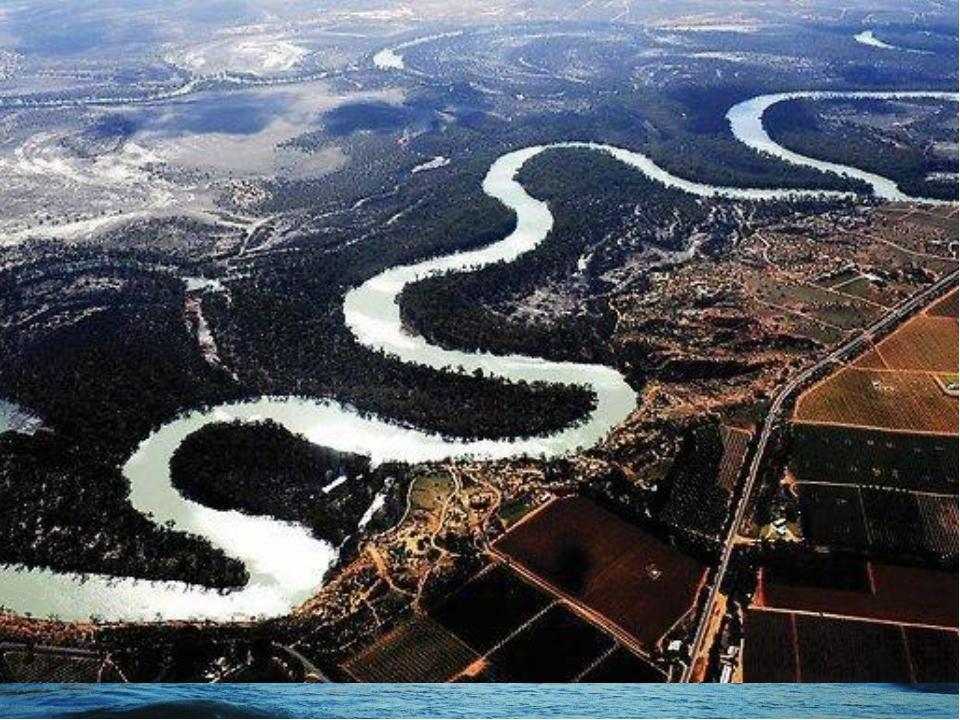 Самые крупные реки Австралии Муррей с притоком Дарлинг.