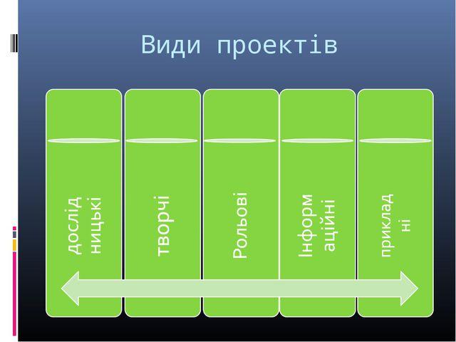 Види проектів