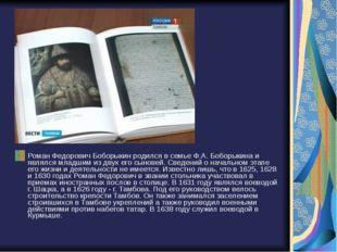 Роман Федорович Боборыкин родился в семье Ф.А. Боборыкина и являлся младшим и