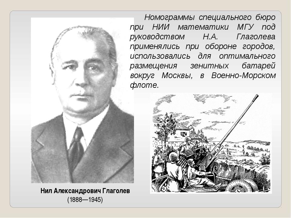 Нил Александрович Глаголев (1888—1945) Номограммы специального бюро при НИИ...