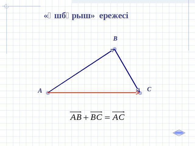 A B C «Үшбұрыш» ережесі