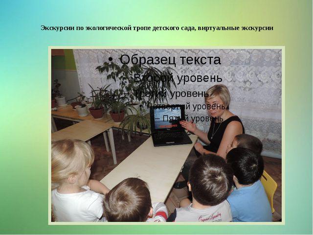 Экскурсии по экологической тропе детского сада, виртуальные экскурсии