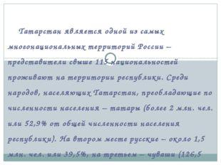 Татарстан является одной из самых многонациональных территорий России – пр