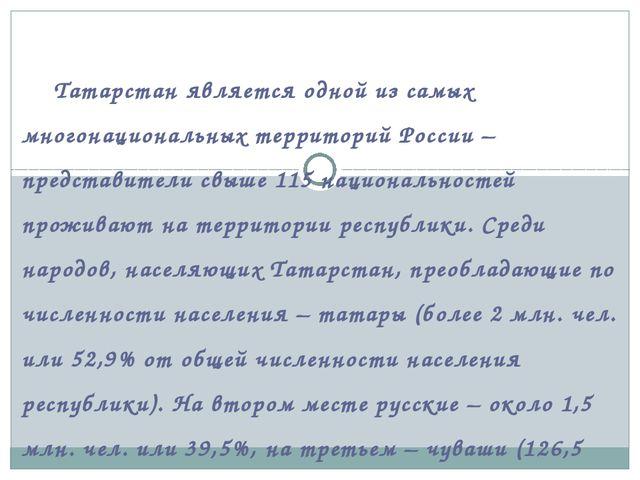 Татарстан является одной из самых многонациональных территорий России – пр...