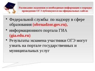 Расписание экзаменов и необходимая информация о порядке проведения ОГЭ публи