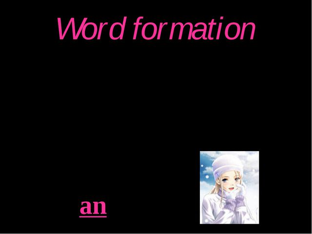 Word formation -Hi! I am Natasha. I am from Russia. I can speak Russian. Exam...