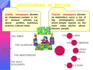 NEWSPAPERS IN BRITAIN QUILITY PRESS THE TIMES THE INDEPENDENT THE GUARDIAN TH