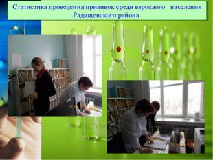 Статистика проведения прививок среди взрослого населения Радищевского района