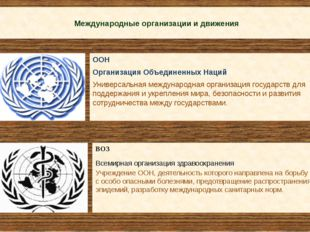 Международные организации и движения ООН Организация Объединенных Наций Унив
