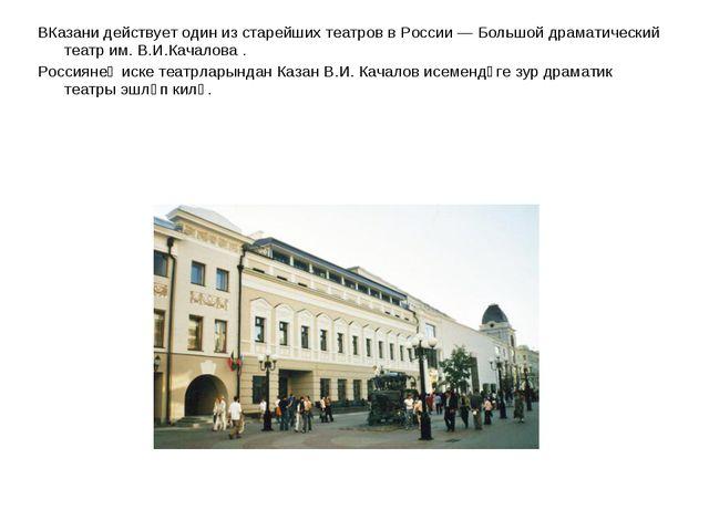 ВКазани действует один из старейших театров в России — Большой драматический...