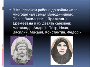 В Кинельском районе до войны жила многодетная семья Володичкиных. Павел Васи