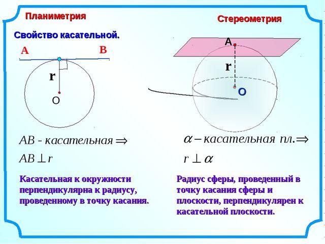 Свойство касательной. Касательная к окружности перпендикулярна к радиусу, про...