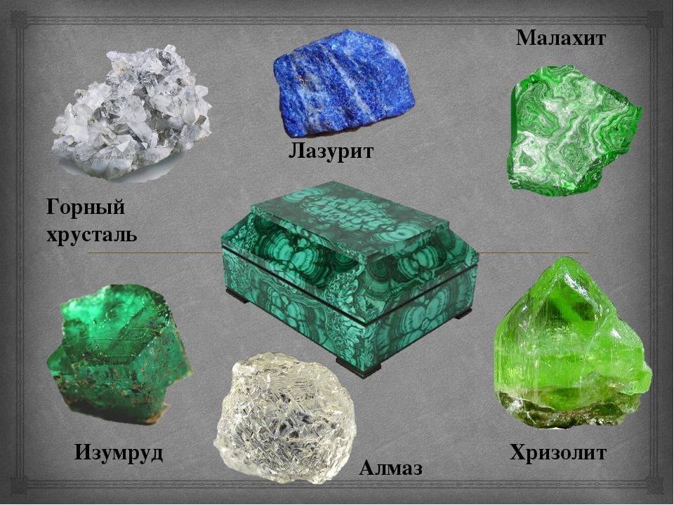 Малахит Горный хрусталь Изумруд Хризолит Алмаз Лазурит 