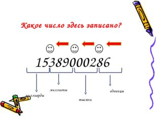 15389000286 единицы тысячи миллионы миллиарды Какое число здесь записано?