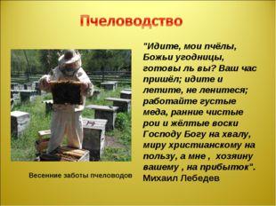 """Весенние заботы пчеловодов """"Идите, мои пчёлы, Божьи угодницы, готовы ль вы?"""