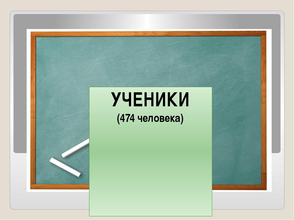 УЧЕНИКИ (474 человека)