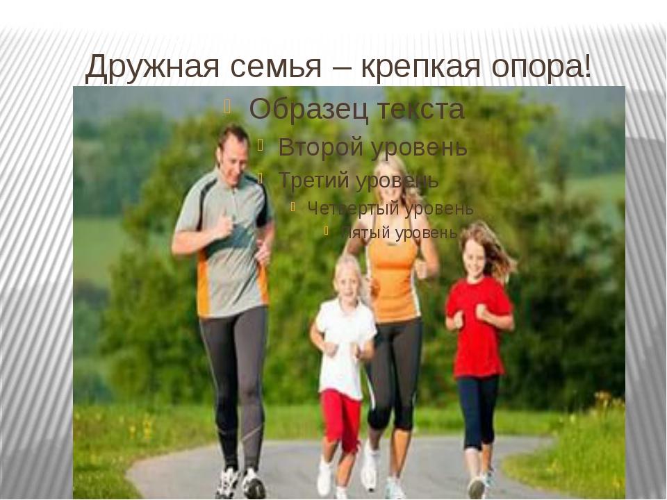 Дружная семья – крепкая опора!