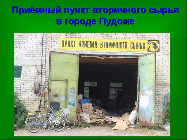 Приёмный пункт вторичного сырья в городе Пудоже