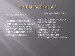 ПРОДДИКТАТУРА ПРОДРАЗВЁРСТКА НАСИЛЬСТВЕННОЕ ОТЧУЖДЕНИЕ ХЛЕБА У КРЕСТЬЯН В ПОЛ