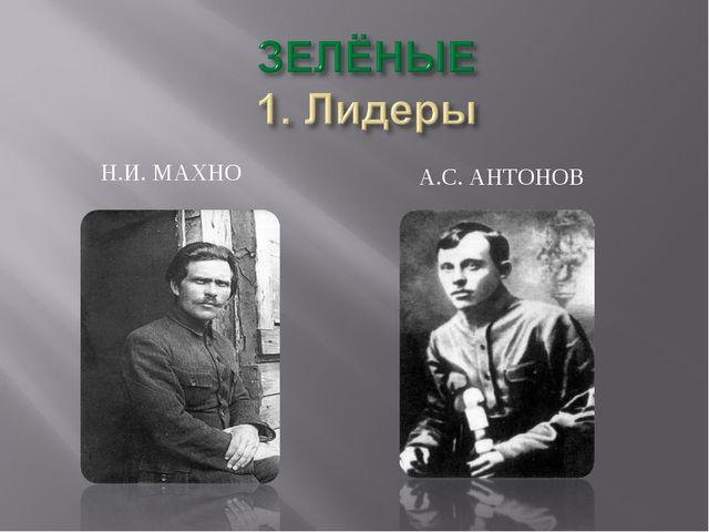 Н.И. МАХНО А.С. АНТОНОВ