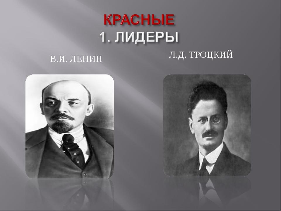 В.И. ЛЕНИН Л.Д. ТРОЦКИЙ