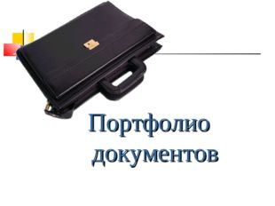 Портфолио документов