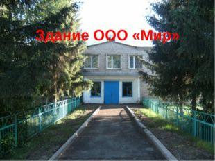 Здание ООО «Мир»