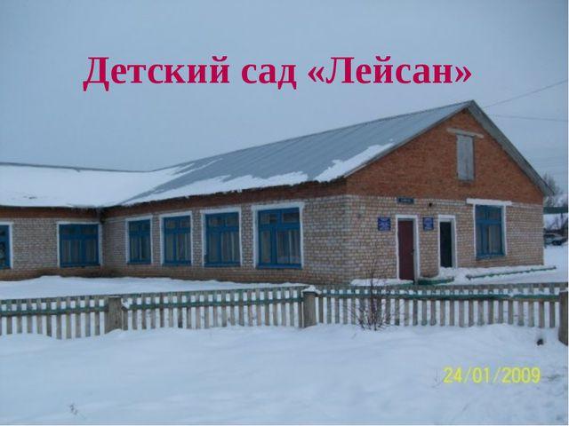 Детский сад «Лейсан»